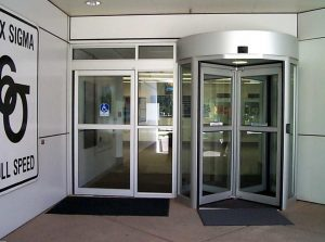 revolving door in Motorola Office