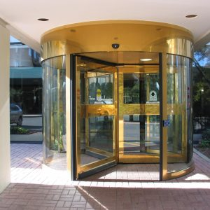 Revolving Door in Residential Building