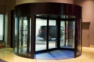 Automatic Revolving Door in hotel by Horton Automatics of Ontario