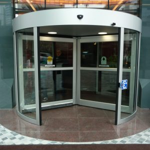Revolving Door in bank
