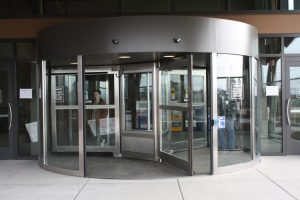 Double Automatic Revolving Door