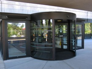 Round shaped revolving door