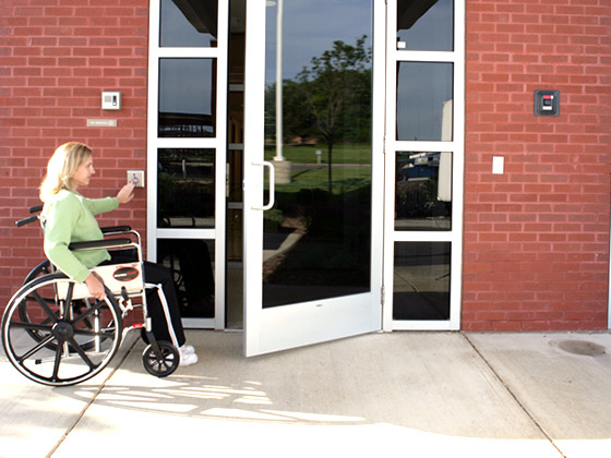 handicap door openers from Horton Automatics of Ontario