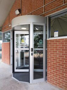 Revolving Door in front area