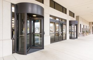 revolving door in Mall