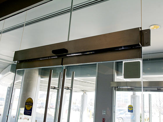 swing door operator example from Horton Automatics of Ontario